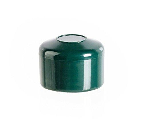 Zaunpfahlkappe rund 42 mm Grün | 10 Stück | Zaunabdeckung Pfostenabdeckkappen Zaunkappen