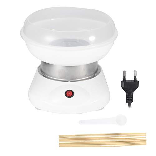 DIY Zuckerwatte-Maschine, tragbare Zuckerwatte-Maschine, langlebiges Weiß für Kinder Küche Home Camping(European standard 220V)