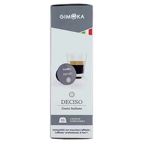 Gimoka - Cápsulas compatibles Caffitaly System/K-Fee/Caffitaly System Professional - Paquete de 8 x 10 cápsulas