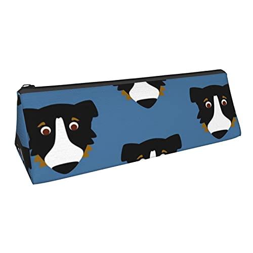 Estuche multifunción con cremallera para lápices, organizador de lápices, bolsa triangular, bolsa de maquillaje, bolsa de maquillaje, bolsa de oficina, suministros de papelería, perro australiano