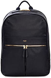 """Knomo London Mayfair Luxe Beaux 14"""" Leather Tablet Bags - Black (120-401-BLK)"""