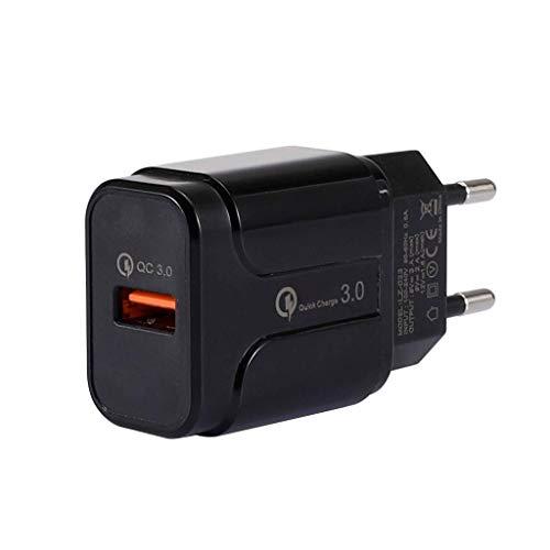 Irinay Eu Steckeradapter Universal Europe Usb3.0 Fast Charger Plug Travel Chic Leistung Adapter Konverter Outlet Für Handy Laptop (Schwarz) Sale Home Täglich Gebrauch Produkt