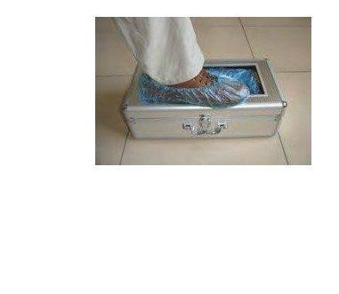 DISPENSADOR CALZAS AUTOMATICO ALUMINIO.Capacidad 60 calzas.Medidas 50x26x17mm (INCLUYE RECAMBIO DE 100 calzas)