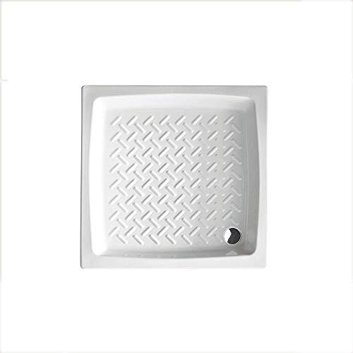 Piatto doccia quadrato Althea Hera 90x90 ceramica bianca altezza 11 cm
