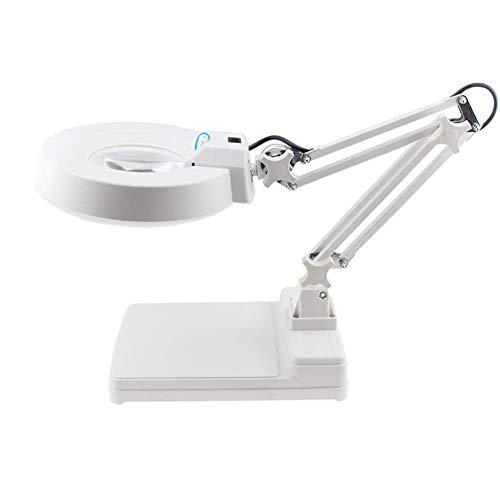 WYBD.Y High Definition Schreibtisch Tisch Leselampe Glas Hochleistungs-LED Kostenloses Glas Helle LEDs für Senioren, Sehbehinderte, Bücher, Seiten, Zeitschriften, Zeitungen und Karten (Farbe: GRÜNE
