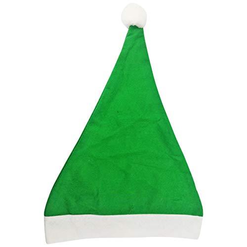 5 er Set Weihnachtsmütze Nikolausmütze Grün Uni Schlicht einfach Mütze X60