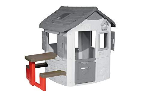 Smoby – Picknicktisch für Smoby Spielhäuser – Zubehör für Spielhaus, Sitzbank mit Tisch, passend für die meisten Smoby Spielhäuser