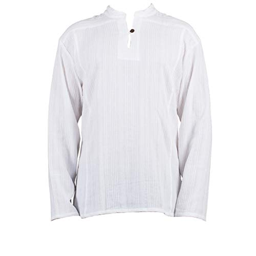 Fisherman Shirt BEN,white, XXL, longsleeve