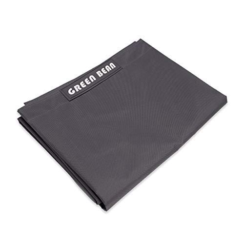 Green Bean  Square XXL Riesensitzsackhülle 140x180 cm - PVC Bezug - Indoor und Outdoor Sitzsackhülle - Bean Bag Bezug - Sitzsackbezug ohne Füllung - Lounge Chair Hülle - abwaschbar - Anthrazit