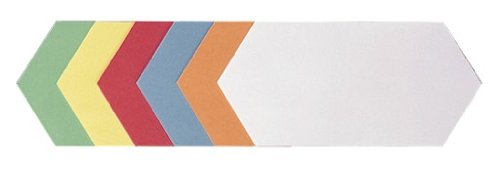 Franken UMZ 920 99 Moderationskarten (Rhombus, 20,5 x 9,5cm) 500 Stück, sortiert
