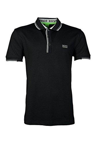 'Paule' | Slim Fit, Stretch Cotton-blend Polo Shirt By Boss Green Model Paule (M, BLACK)