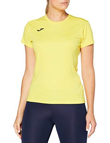 Joma Combi Woman M/C Camiseta Deportiva para Mujer de Manga Corta y Cuello Redondo, Amarillo (Yellow), XS