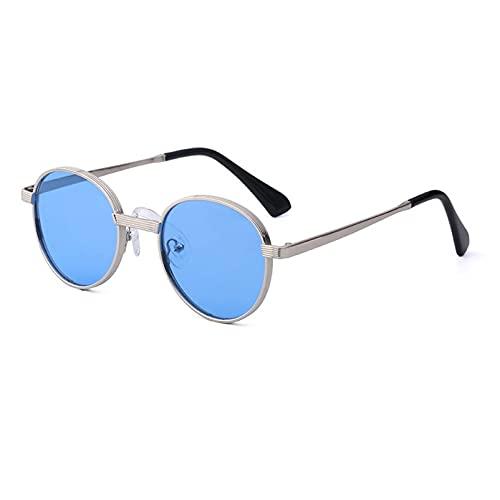 AMFG Pequeñas gafas de sol de marco redondo Mujeres y hombres retro gafas de sol, protección solar, viajes, ciclismo, desgaste, gafas de conducción (Color : D, Size : M)