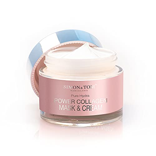 SIMON & TOM - Crema Facial de Colágeno Marino Ultra concentrada con Antioxidantes - Combate Arrugas - Tonifica e Hidrata - Efecto Lifting – HECHO EN ESPAÑA