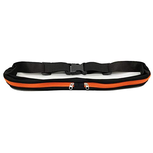 Dual Pocket Running Belt Mini Fanny Pack For Women Men Convenient Waist Pack Travel Multifunctional Waterproof - Orange Sports pocket