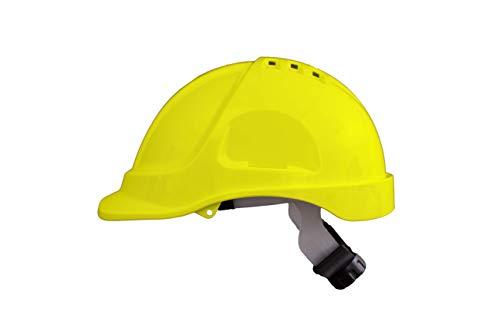 Irudek Protection 302601300015 Casco para industria y construcción STILO 600V | Certificado Europeo EN 397, EN 50365, 30º, Amarillo ✅