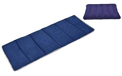 ERTYW Colchoneta plegable para descanso, almohadilla para dormir suave con almohada, alfombrilla para siesta para interior y exterior, dormitorio, hogar, oficina, guardería, camping, 190 x 68 cm