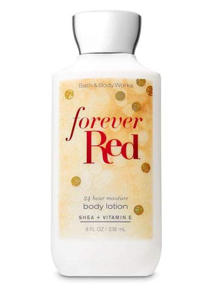 強打残酷な送った【Bath&Body Works/バス&ボディワークス】 ボディローション フォーエバーレッド Super Smooth Body Lotion Forever Red 8 fl oz / 236 mL [並行輸入品]