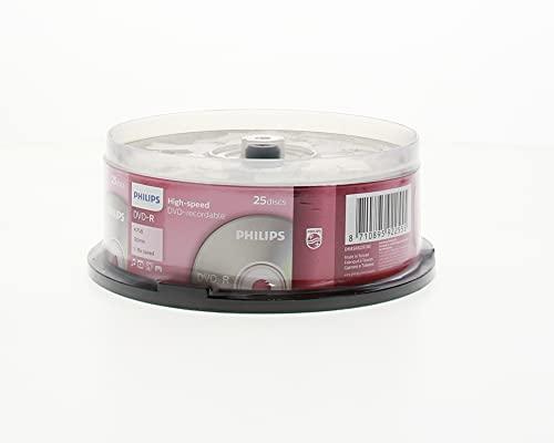 Philips DVD-R Rohlinge (4.7 GB Data/ 120 Minuten Video, 16x High Speed Aufnahme, 25er Spindel)