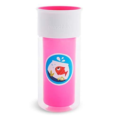 Munchkin Miracle 360 drinkbeker, personaliseerbaar en geïsoleerd roze