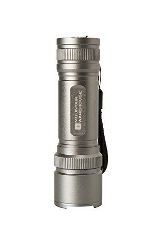 Mountain Warehouse COB Mini-Lampe de Poche - lumière LED vive, Piles AAA, lanière pour Poignet, Durable - pour Camper, Marcher, urgences Argent Taille Unique