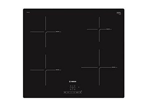 Bosch PUE611BF1J hobs Negro Integrado Con - Placa (Negro, Integrado, Con placa de inducción, Cerámico, Tocar, Parte superior delantera)