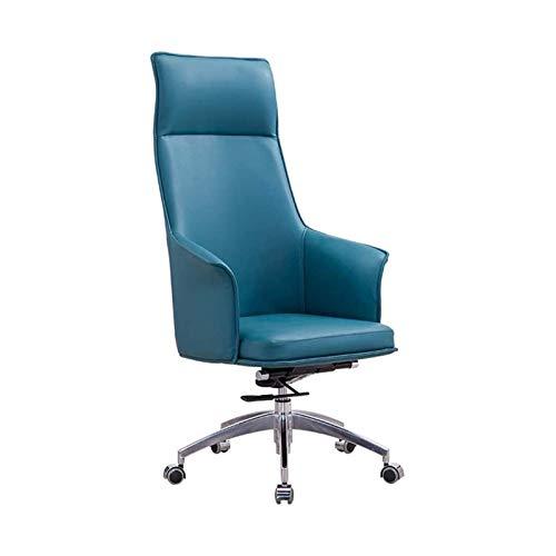 Boss Stuhl Einfache Moderne Studie Computer Stuhl Home Executive Stuhl Business Lift Drehstuhl Bürostuhl Atmungsaktiver und bequemer Sessel Boss Stuhl, Gelb, Farbe Name: Lila