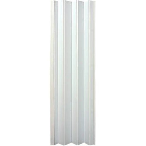 """LTL Home Products OK32-3680FL Oakmont Interior Accordion Folding Door, 32"""" to 36""""x80"""", Frost White"""