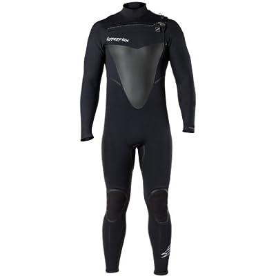 Hyperflex Wetsuits Men's Voodoo 4/3mm Front Zip Fullsuit, Black, Large