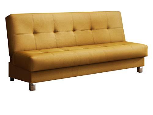 Mirjan24 Schlafsofa Enduro XI mit Bettkasten, 3 Sitzer Sofa, Couch mit Schlaffunktion und Bettfunktion, Bettsofa Polstersofa, Lounge Sofa Wohnlandschaft (Kronos 01)