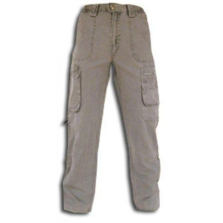 Tucuman Aventura - Multi Poche de Pantalon Toile Trekking (Beige, 38)