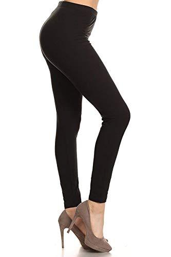 HLDR128-BLACK Premium Active-Flex Leggings, One Size, Active Flex-Black