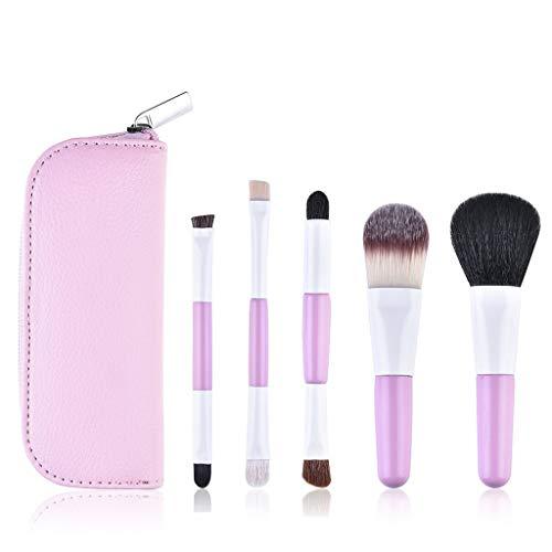 XH Ensemble de 5 pinceaux de Maquillage, pinceaux de Maquillage Professionnels, Fond de Teint Poudre Poudre Blush Pinceau pinceaux à mélanger