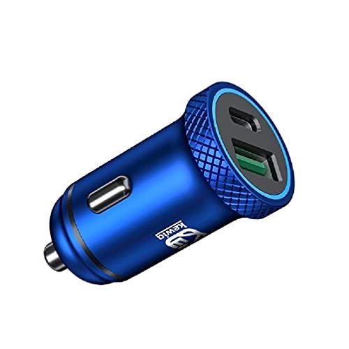 Yuwe Universal Quick Charge 3.0 USB Cargador rápido para automóvil USB C Tipo C PD Adaptador de Corriente de Carga para automóvil para iPad Teléfono móvil Tableta GPS Cargador USB Enchufe para