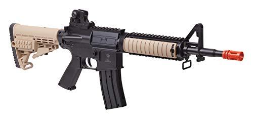 GAME FACE GFR37 Elite Renegade Spring-Powered Single-Shot Airsoft Rifle, Dark Earth/Black