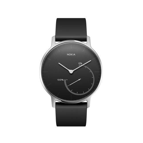 Withings Steel Reloj, Unisex Adulto, Negro/Silver, 36 mm
