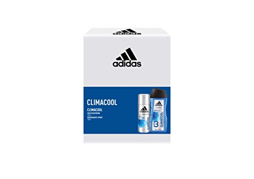 Adidas, Confezione Regalo Uomo Climacool, Deodorante Spray 150 ml e Gel Doccia Bagnoschiuma 3in1 250 ml