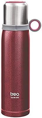 TREO by Milton Vaccum Double Steel Bottle Terrain 600Ml, Pink