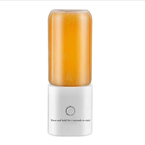 JINGJING USB Aufladen Tragbar Glas Entsafter Mini Entsafter Haushalt Elektrisch Klein Entsafter Fruchtbecher,White