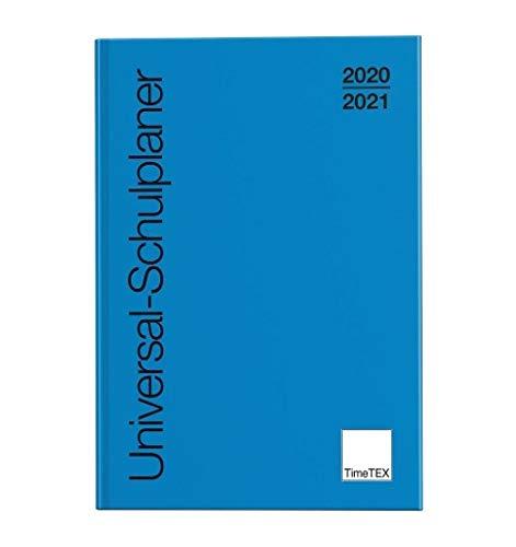 TimeTex Universal-Schulplaner A4-Plus Blau - Schuljahr 2020-2021 - Gebunden - Lehrerkalender - Unterrichtsplaner - Timetex 10500