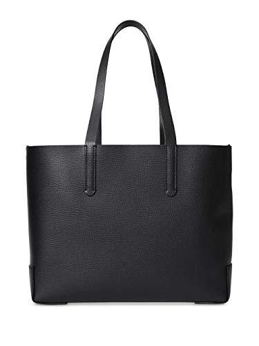 Burberry medium tote embossed monogram leathe bag Black Handbag Bag Purse NEW
