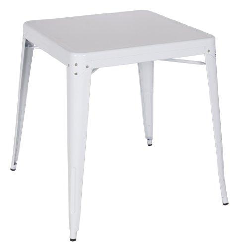 SixBros. Table de Bar en métal Blanc M-84420/1486