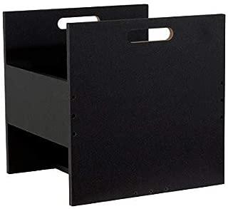 Atlantic 96636247 Record Crate Shelf, 15.40in. x 15.00in. x 2.20in, Black