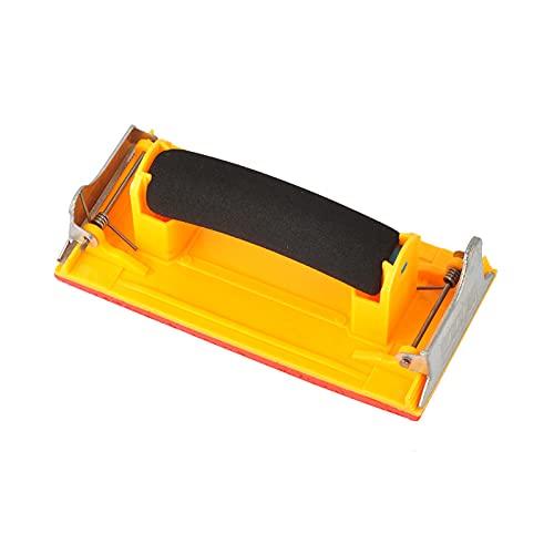 Soporte para papel de lija Soporte Papel de Lija con Mango Bloque de lijado manual Lijadora manual con mango Bloque de almohadilla de lijado de espuma para reparación de artesanías y muebles