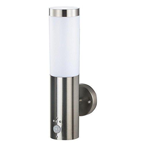 Grafner Edelstahl Außenleuchte mit Bewegungsmelder Wandlampe Wandleuchte Fackel E27 IP44 Wand Lampe Außen