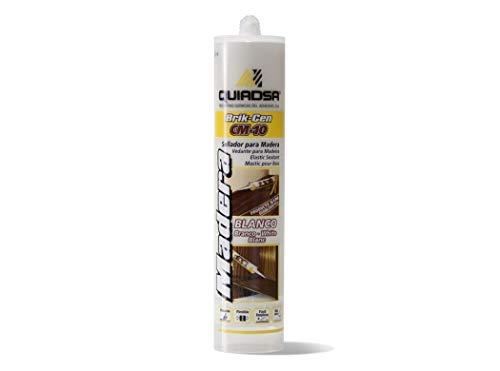 Quiadsa 52502326 Sellador Elástico para Madera, Blanco, 300 ml