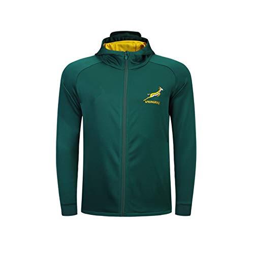 Pavilion Herren Südafrika Rugby Jacke WM Känguru Supporter Langarm Sport (Size : M)