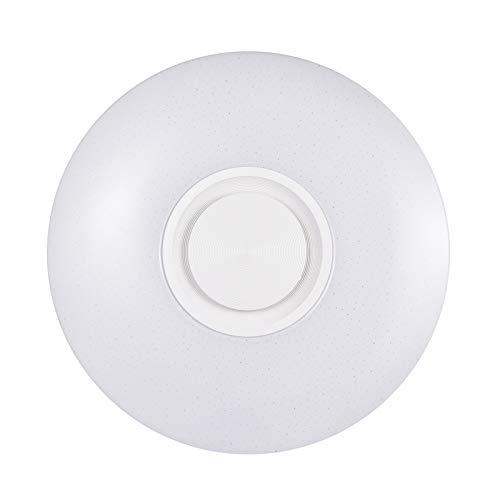 Bellanny Lámpara de Techo LED con Altavoz Bluetooth 60W, Moderna Luz de Música, RGB Plafones Led Techo Regulable, Controlad por APP y Control Remoto, Lámpara de Música para Cocinas Dormitorios