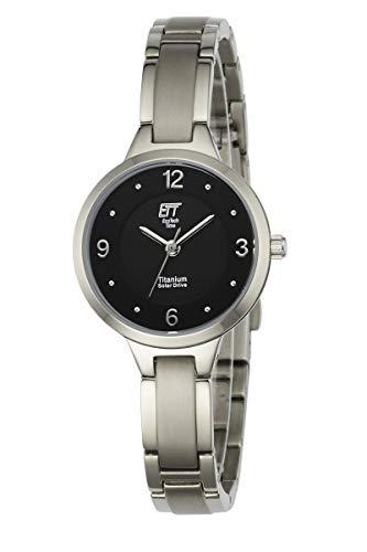 ETT Eco Tech Time Solar Damen Uhr Analog mit Titan Armband ELT-12044-21M