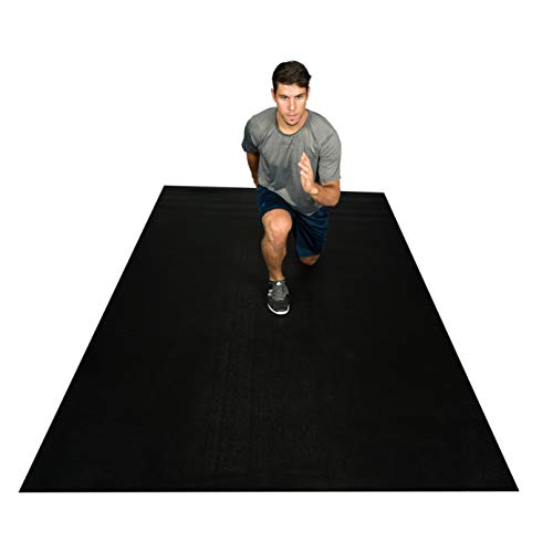 """Square36 Extra Large Exercise Mat/Fitness Equipment Mat 10' X 6' x 1/4"""". Large Home Gym Exercise Mat That Protects Floors. Perfect For Beachbody, TAM, HIIT, PLYO, Zumba. For Use With Or Without Shoes."""